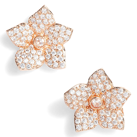 Blooming+Pav%C3%A9+Stud+Earrings