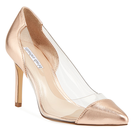 Genuine+Clear+Leather+Pump