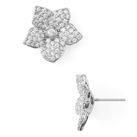 Pave+Bloom+Stud+Earrings