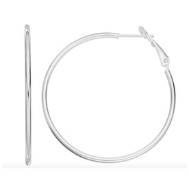 Sterling+Silver+Tube+Hoop+Earrings