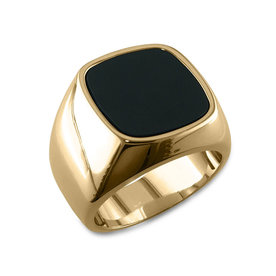 Gold+Black+Onyx+Ring