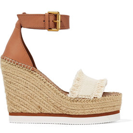 Canvas+and+Leather+Espadrille