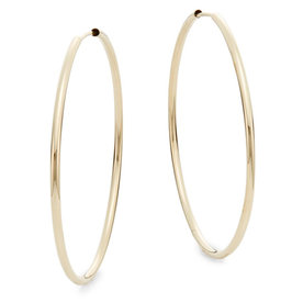 14K+Yellow+Gold+Hoop+Earrings