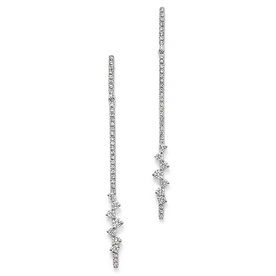 14K+White+Gold+Diamond+Line+Drop+Earrings