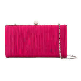 Ribbed+Chain+Clutch+Bag