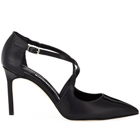 Umice+Patent+Crisscross+Leather+Pumps