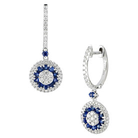 Sapphire+%26amp%3B+Diamond+Drop+Earrings
