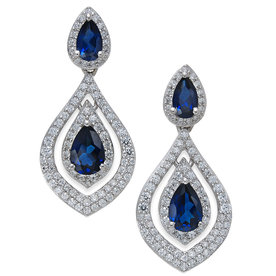 Sapphire%C2%A0%26amp%3B+Diamond%C2%A0Drop+Earrings+in+14k+Gold