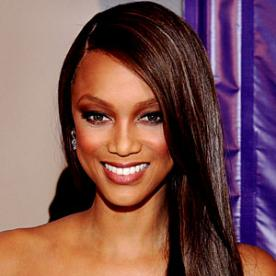 Straight Hairstyles kinky straight blow dried natural hairstyle kinky straight natural hairstyle Tyra Banks