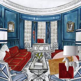 oval office pics. inauguration central barack obama oval office jonathan adler the modernist pics