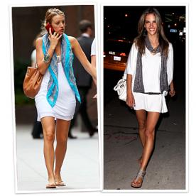 Ho to accessorize a white short dress