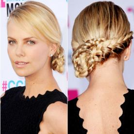 Best updo hairstyles for wedding prom instyle amazing wedding updos at every angle charlize theron junglespirit Choice Image