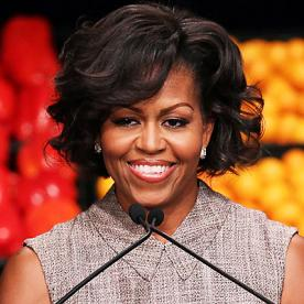 Magnificent Michelle Obama39S Changing Looks Instyle Com Short Hairstyles Gunalazisus