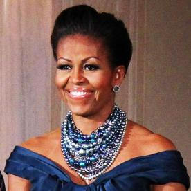 Magnificent Michelle Obama39S Changing Looks Instyle Com Short Hairstyles For Black Women Fulllsitofus