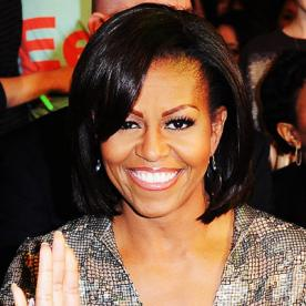 Strange Michelle Obama39S Changing Looks Instyle Com Short Hairstyles For Black Women Fulllsitofus