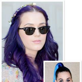 "Katy Perry's New Hair Color: ""Purple Velvet"""