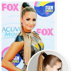 Demi Lovato's High Wrapped Ponytail: From Runway to Reality