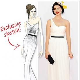 Emmys Exclusive: Jason Wu's Sketch for Mad Men's Jessica Pare!