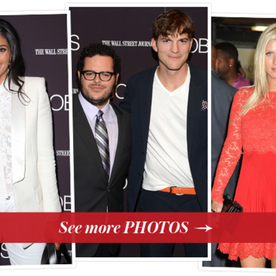 Parties: Ashton Kutcher, Josh Gad, Rachel Roy and Nicky Hilton at the Premiere Jobs in NYC