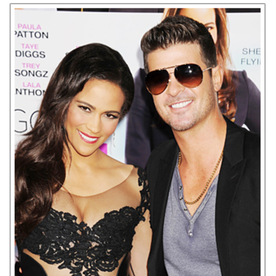 Paula Patton and Robin Thicke Make a Date Out of the Baggage Claim Movie Premiere in LA