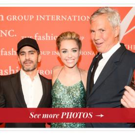 Miley Cyrus Honors Marc Jacobs and Robert Duffy at the Fashion Group International's Night of Stars Gala