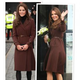 Kate Middleton's Maternity Style: Her Chocolate Hobbs Coat Is Back