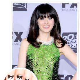 Got Manicure Skills? Enter Our Inspired By Zooey Deschanel Tuxedo Nail Contest!