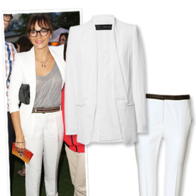 Found It! Rashida Jones's Crisp White Outfit from Zara