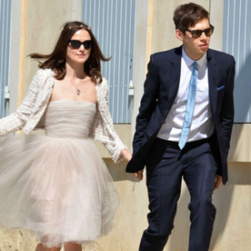 Keira Knightley's Short Wedding Dress: See the Photo