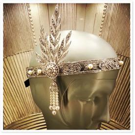 Instagram Photo We Love: Tiffany & Co.'s Deco Headpiece for The Great Gatsby