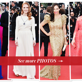 Cannes Film Festival Fashion: Jessica Chastain, Rosario Dawson, Dita Von Teese, and More