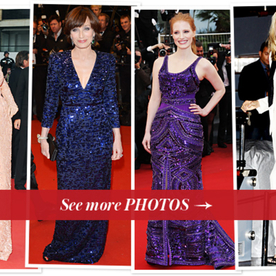 Cannes Film Festival Fashion Continued: Jessica Chastain, Sharon Stone, and More