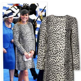 Way to Go Out Like a Superstar, Kate Middleton! Royal Wears Dalmation Coat for Final Appearance