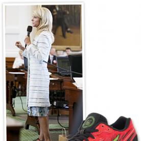 Found It! Senator Wendy Davis' Filibuster Sneakers