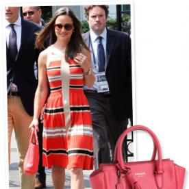 Wimbledon Fashion: Shop Pippa Middleton's Bright Coral Bag