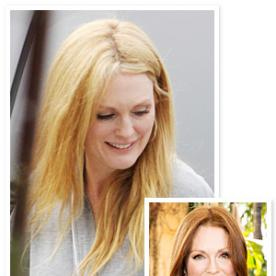 Bye-Bye Red Hair! Julianne Moore Debuts a New Blonde 'Do