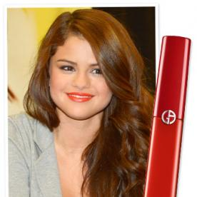 Snag Selena Gomez's Pretty Orange Pucker for $32