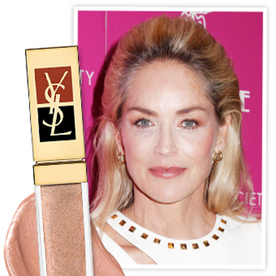 Found It! Sharon Stone's Gold-Flecked YSL Lip Gloss