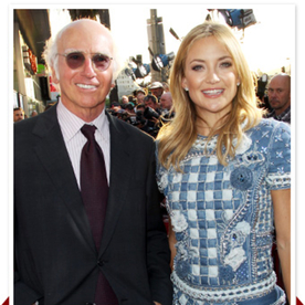 Kate Hudson and Larry David Premiere HBO's Clear History in Hollywood