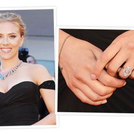 Scarlett Johansson's Engagement Ring: A Big Photo for a Big Rock