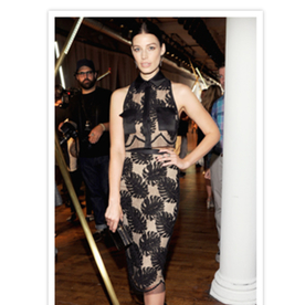 Jessica Pare Rocks a Crop Top At Jason Wu's Spring 2014 Show (And Asks Us What We Think About It)