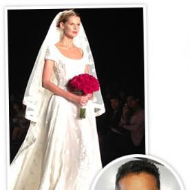 Naeem Khan Debuts a Look From His New Bridal Collection at NYFW