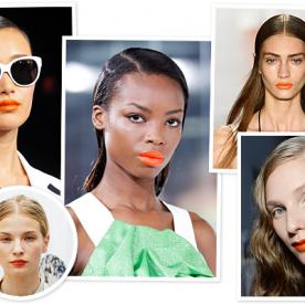 Fashion Week Beauty Trend: Orange Lips