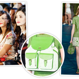 Trend Forecast From the Front Row at Tory Burch: Green and Backpacks
