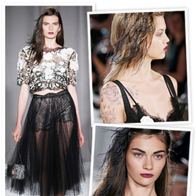 Marchesa Designers Bring Understated Goth to Their Spring 2014 Collection