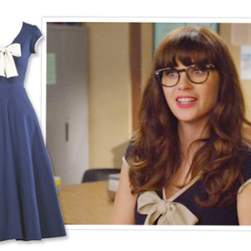 Shop the Show via Poessessionista! Zooey Deschanel's Bow Dress on New Girl