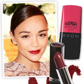Get the Look: Ashley Madekwe's Bold Red Lip