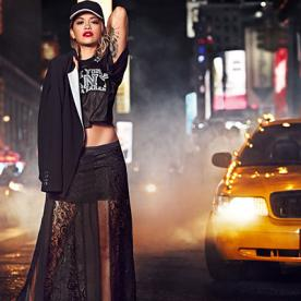 Rita Ora Makes Times Square Look Cool in DKNY