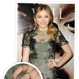 Get the Look: Chloe Moretz's Studded Manicure From the Carrie Premiere