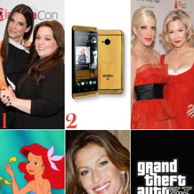 Watch Sandra Bullock and Melissa McCarthy's Bloopers from The Heat, A ,400 HTC One Phone Exists and More